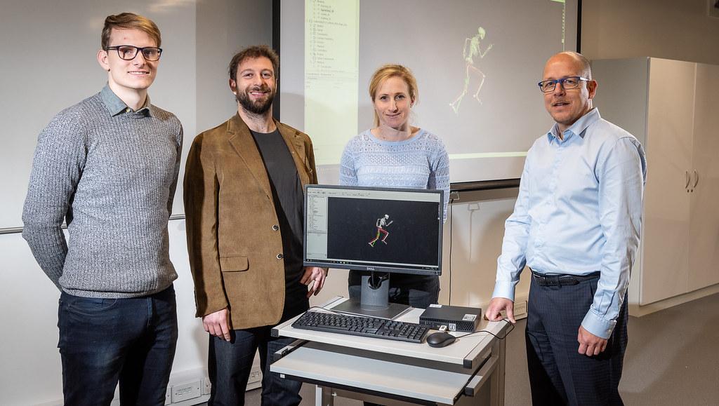 The research team involved: James Cowburn, Dr Dario Cazzola, Dr Steffi Colyer, Dr Aki Salo