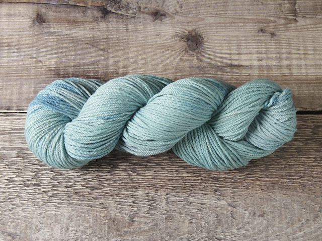 Pure Ultrafine Merino wool NewMerino ethical standard DK hand dyed yarn 100g – 'Sea Spray'