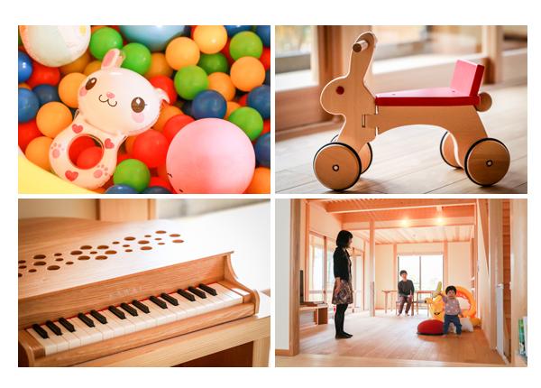 天然木・自然素材の新築の家 木のおもちゃ