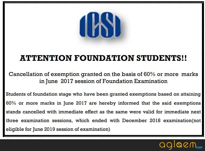 CS Foundation June 2019 Application Form (Available) - Date, Fees