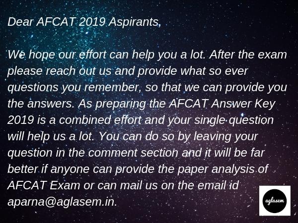 A kind request to all AFCAT 2019 Aspirants