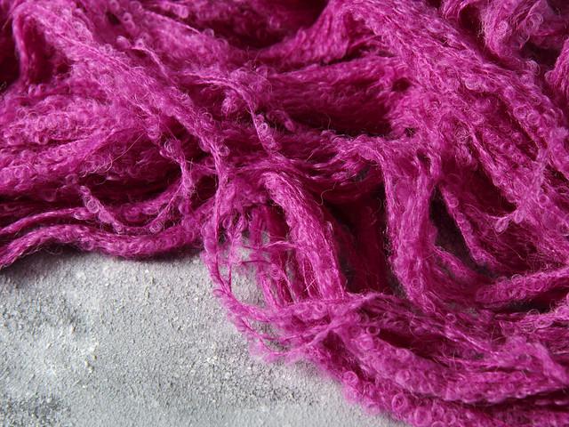 Baby Alpaca Bouclé hand dyed yarn (special edition) 100g – Professor Plum