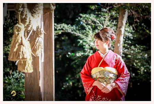 成人式 神社でロケーションフォト