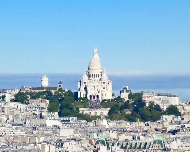 Sacre Coeur del barrio de Montmartre de París