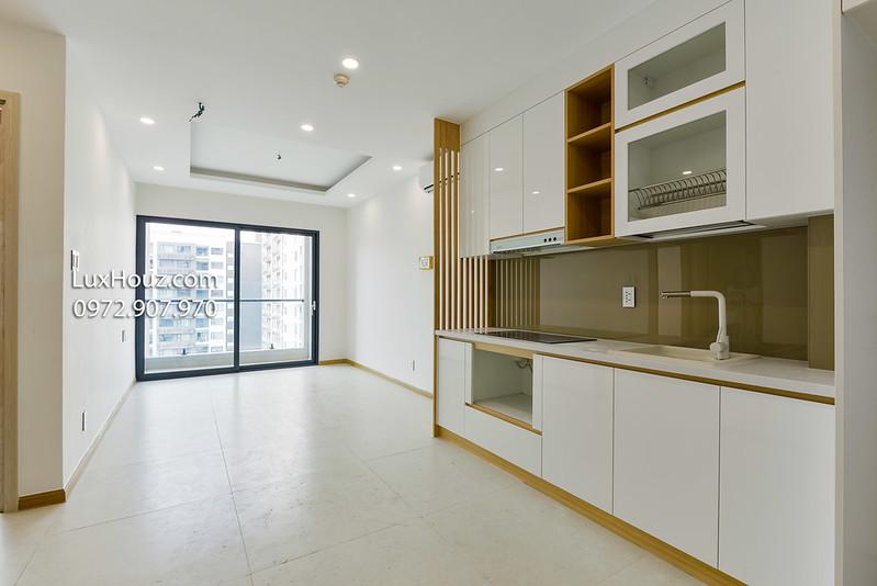 Phòng khách căn hộ 1pn New City thông thoáng