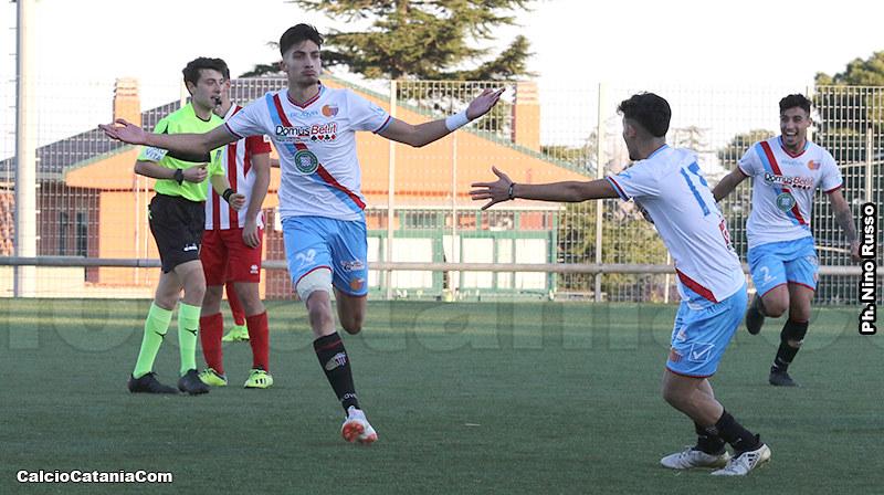 La punta centrale Pecorino, oggi in gol per la nona volta nella stagione