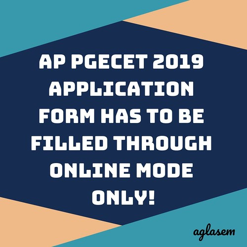 AP PGECET 2019 Application Form (Available) - Apply Here GPAT & GATE Qualified Candidates