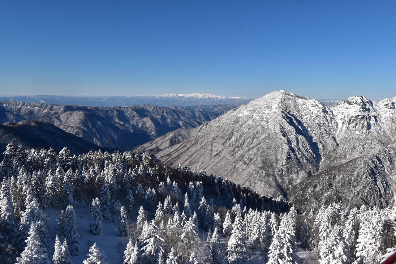展望台から眺める白山