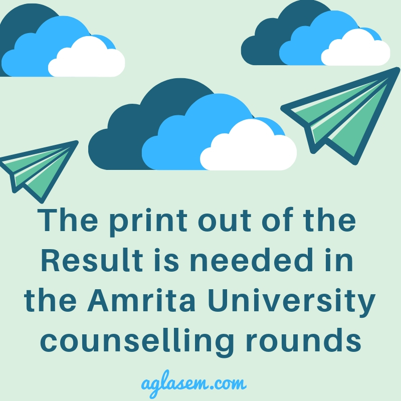 Amrita University Result 2019