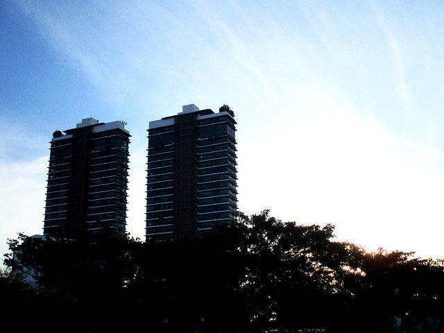 Sunset at Twin Towers