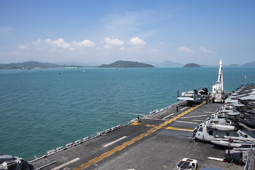 PHUKET, Thailand (NNS) – The Wasp-class amphibious assault ship USS Essex (LHD 2) and the embarked 13th Marine Expeditionary Unit (MEU) arrived in Phuket, Thailand, for a port visit, Jan. 24.