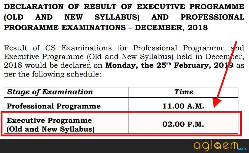 CS Executive Dec Result 2018 To be Announced at 2:00 PM, Today!