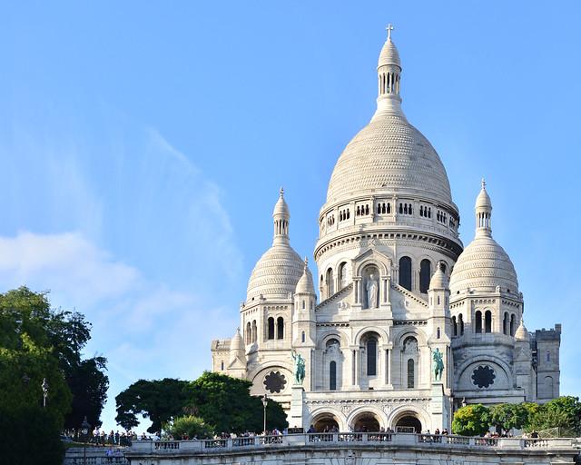 Iglesia del Sacre Coeur del barrio de Montmartre
