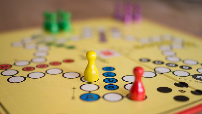 A picture of a board game