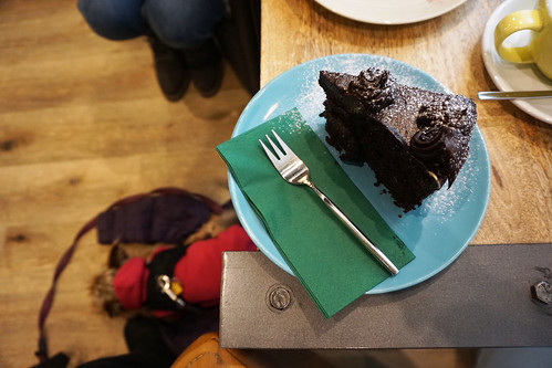 chocolate zucchini cake Velo Cafe Interlaken