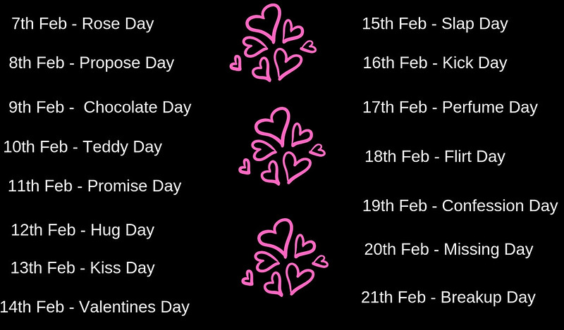 valentine day 2019 list
