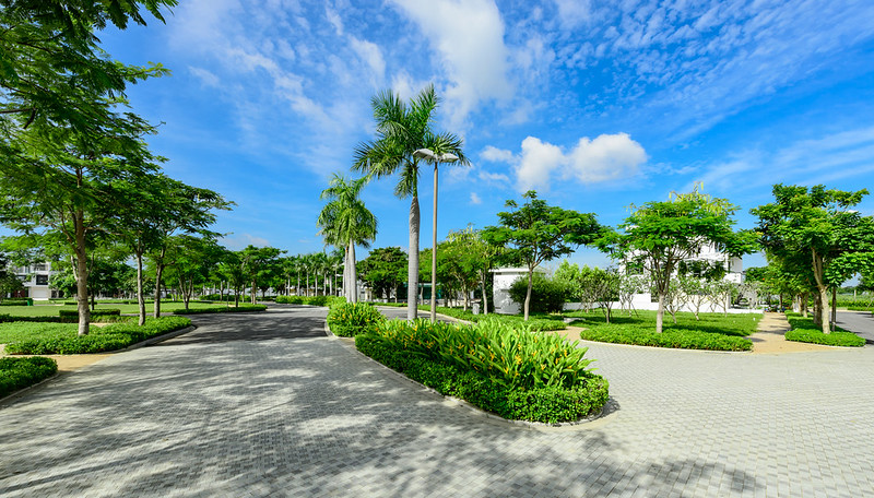 công viên xanh mát nội khu