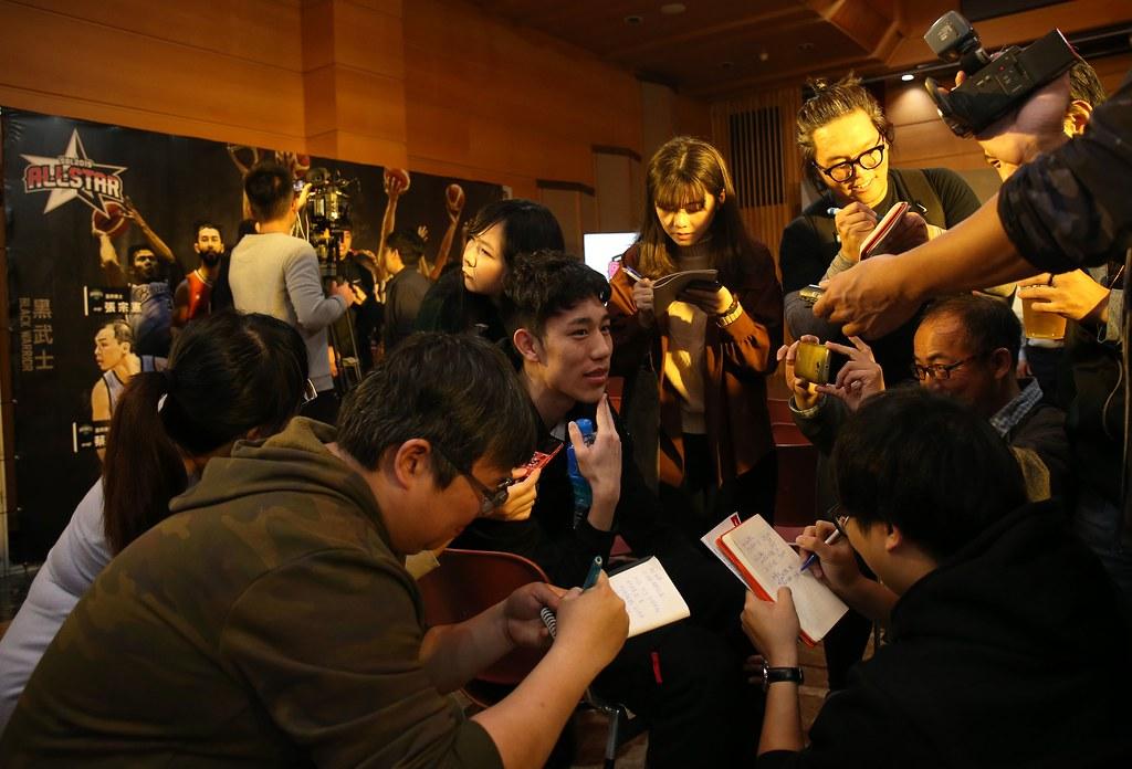 林書緯出席明星賽賽前記者會。(籃協提供)