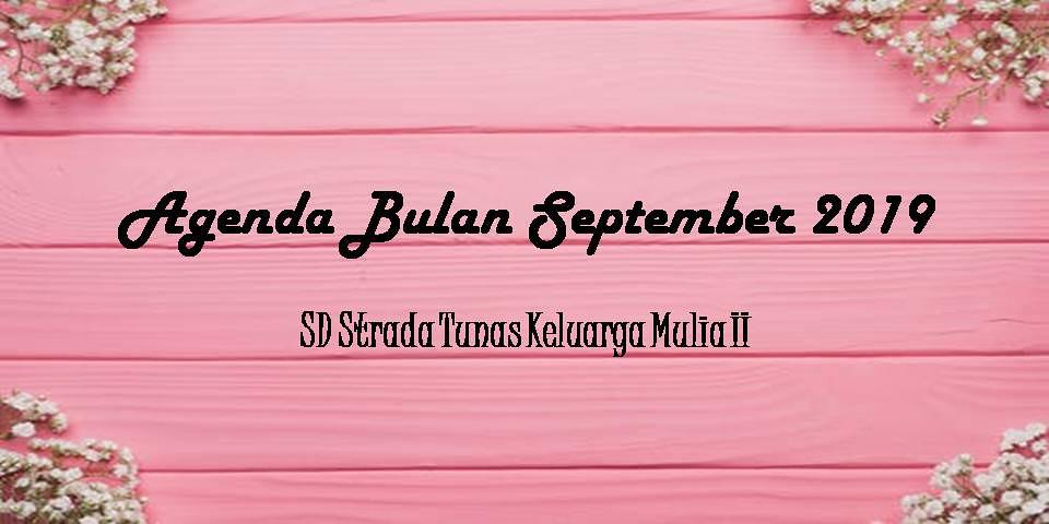 Agenda Sekolah Bulan September