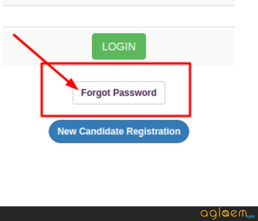 CUSAT 2020 Forgot Password