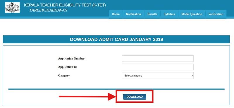 KTET Admit Card 2019