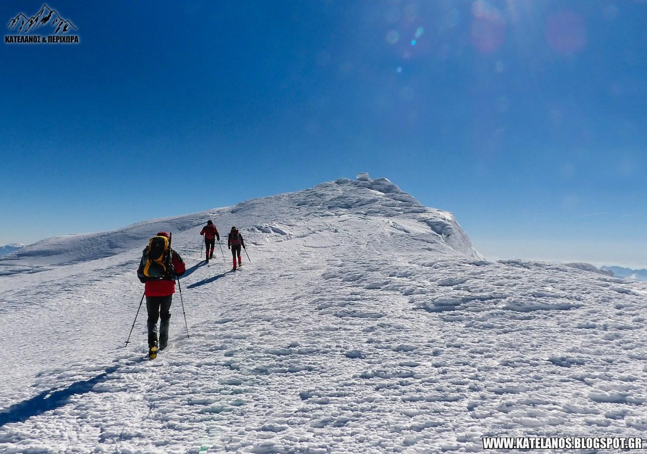 ψηλη κορυφη βελουχι χειμερινη αναβαση