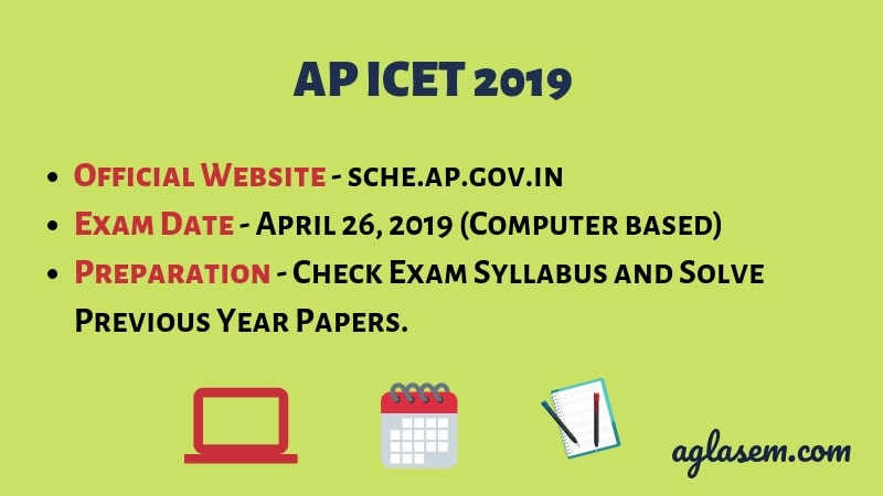 AP ICET 2019 Apply online and Date