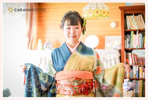 自宅で成人式の写真撮影 愛知県海部郡蟹江町