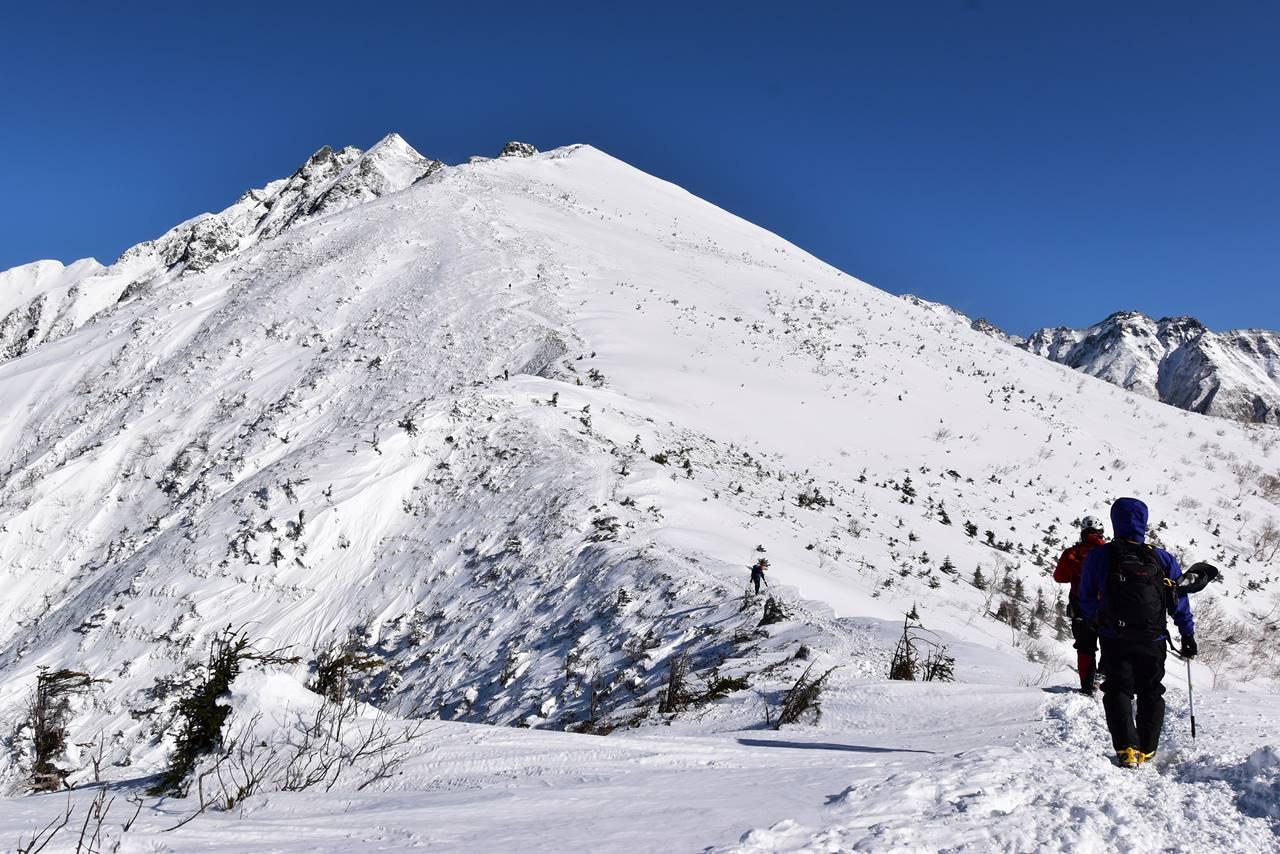 冬の西穂高岳・独標 雪山登山