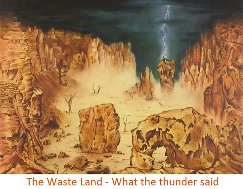 the waste land-what the thunder said - word meaning, bangla translation, summary