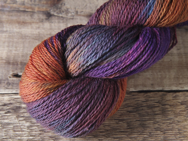 Pure Merino wool superwash hand-dyed 4 ply/fingering yarn 100g – 'The Big Sky'