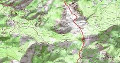 Carte Bocca Santa Maria - Monte Corvo au Cap Corse