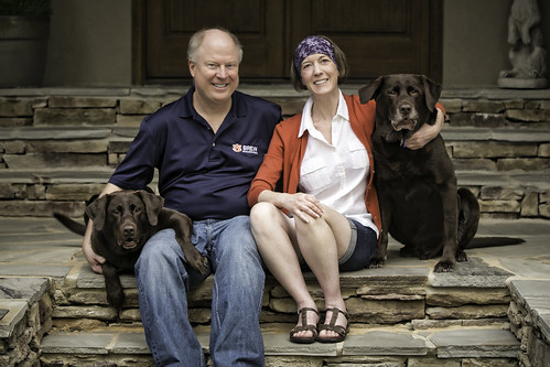 Dave and Sharon Ketchen and their dogs