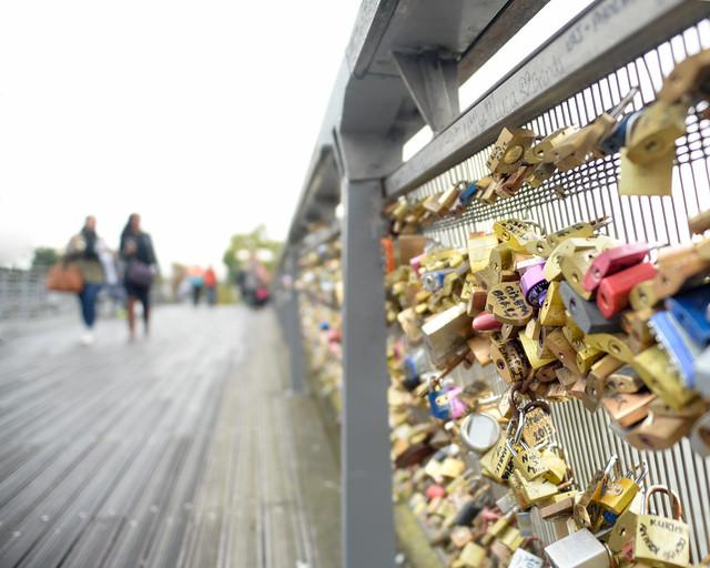Candados del Puente de las Artes de París