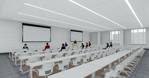 A rendering of a new lecture hall
