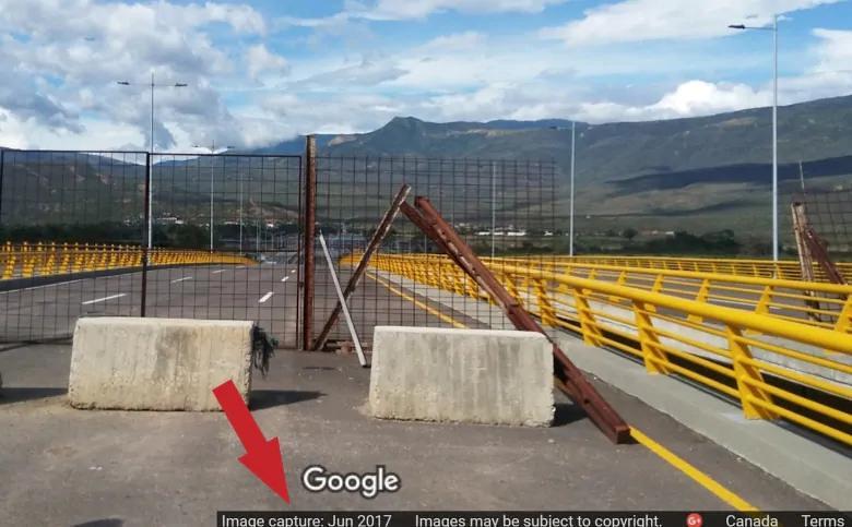 谷歌地圖顯示圍籬與混凝土2017年便已存在。