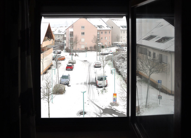 Schnee in Mannheim-Seckenheim am 31. Januar 2019 ... Foto: Brigitte Stolle