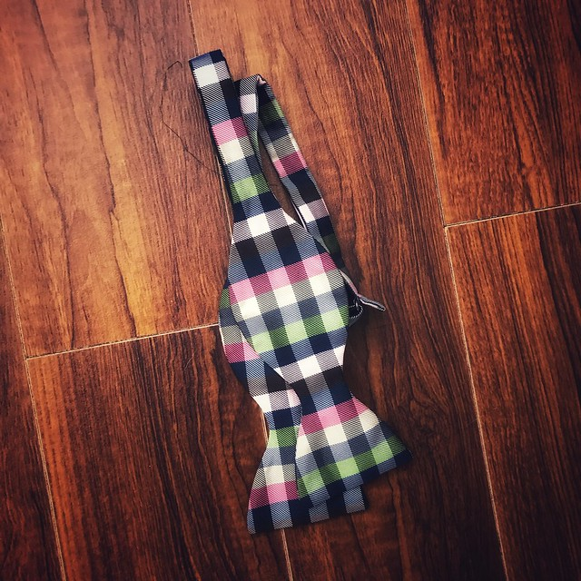 Photo of checkered bowtie