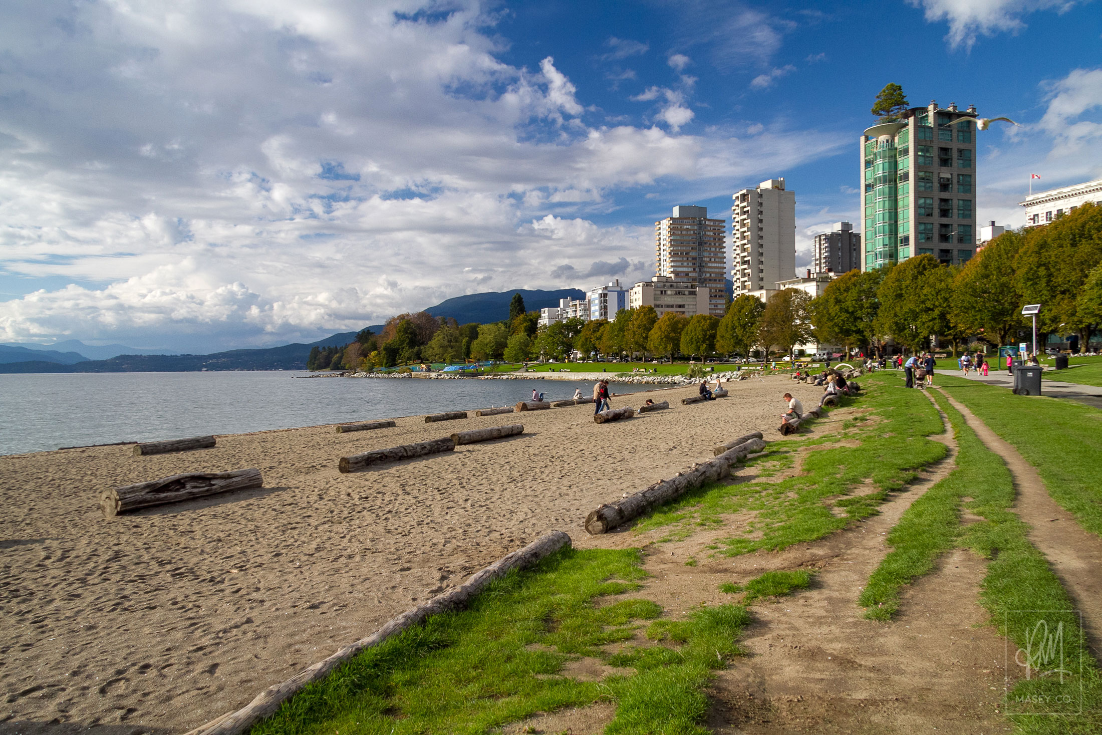 Vancouver's place to meet - the main beach on English Bay