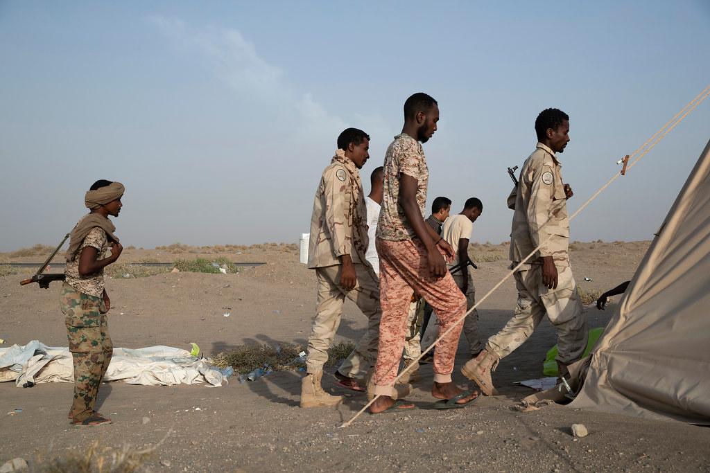 參與葉門戰爭的蘇丹民兵。(圖片來源:Tyler Hicks/The New York Times)