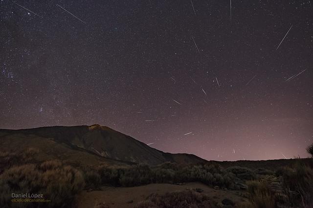 VCSE - Quadrantida-meteorok az égen - APOD, Daniel Lopez felvétele