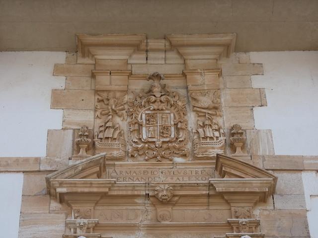 Portada de la Casa de las Torres de Tembleque (Castilla-La Mancha, Toledo)
