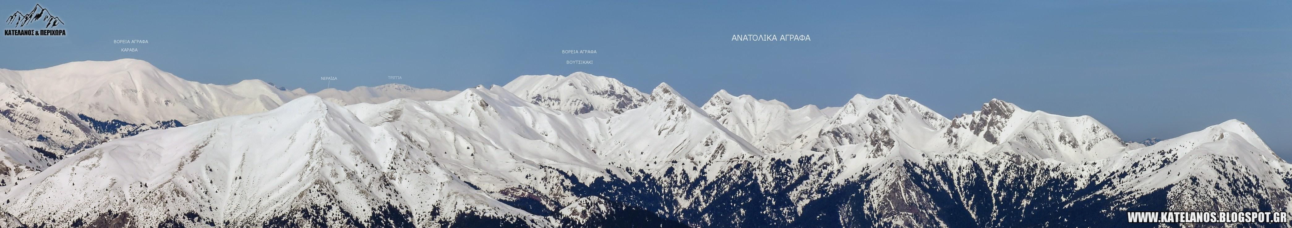 οροσειρά ανατολικών αγράφων βουνοκορφές ευρυτανικά άγραφα