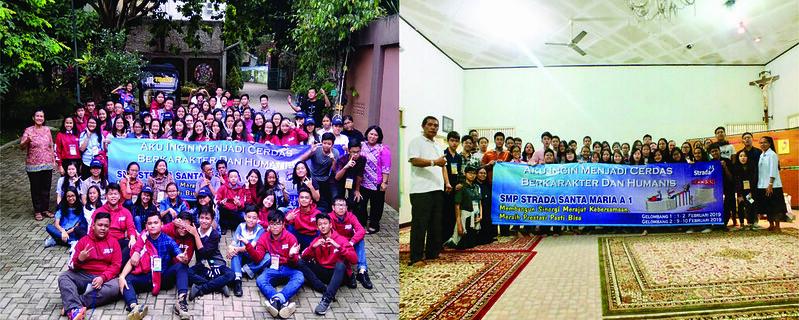 KEGIATAN RETREAT KELAS IX SMP STRADA SANTA MARIA 1 TAHUN PELAJARAN 2018-2019 CIVITA YOUTH CAMP