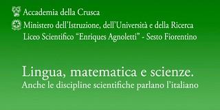 lingua matematica e scienze