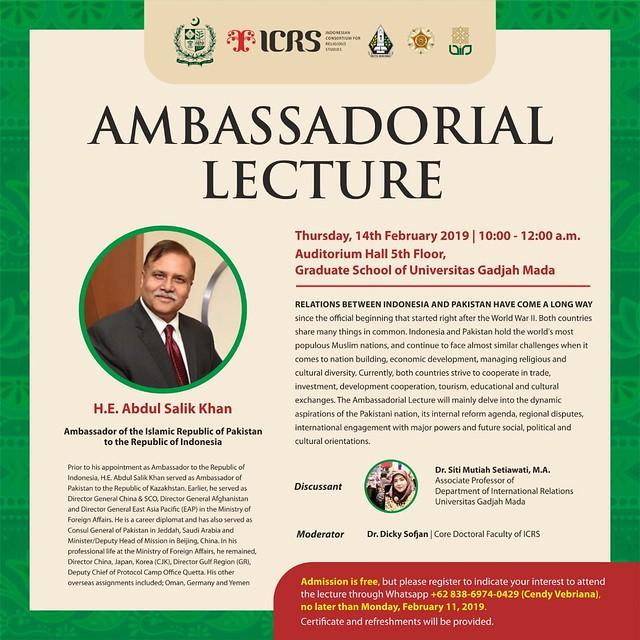 ambassadorial lecture