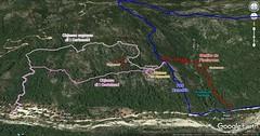 Photo 3D du Sentier du Pisciaronu avec le PR6 et I Carbunari