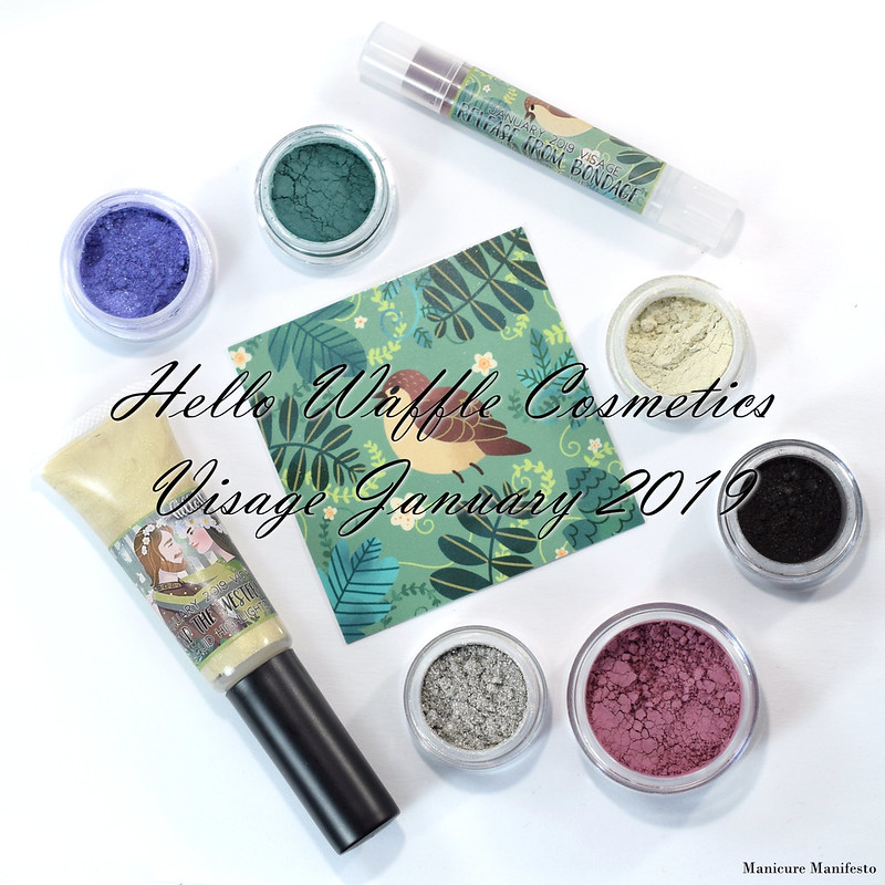 Hello Waffle Visage January 2019 swatch review