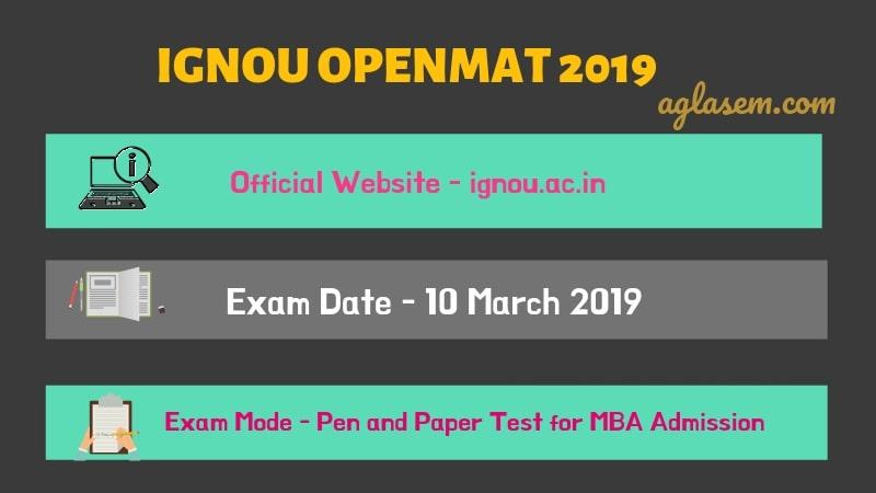 OPENMAT 2019 Exam Date