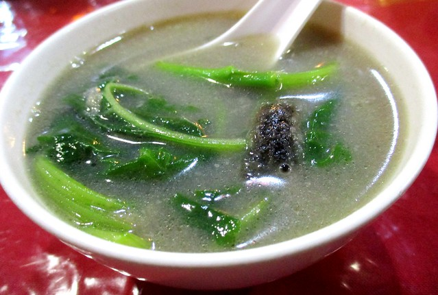 Ruby bayam century egg soup